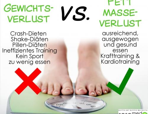 Gewichtsverlust ist nicht gleich Fettmasseverlust!